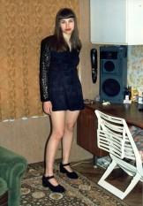 Me in Black Minidress & Pantyhose I. No Panties