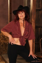 Mature cowgirl get boned and spermed in the barn.
