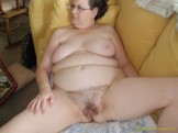 Hairy mom gets cum shots on her pussy from family