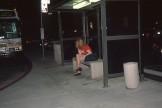 Nice and hot readhead girls meeting 3 boys at bus stop