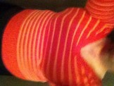 Chubby cd slut in orange sweater