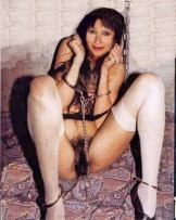 hairy chained and happy
