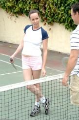 Ann has sex on the tennis court
