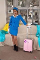 Stewardess Cala has a nice Bush