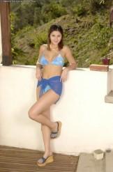 Charisma Cole – Blue Pattern Bikini