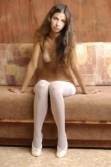 MA – Tamara in white Stockings