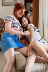 Hairy lesbians Hayley and Patty lick Bush