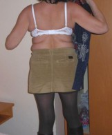 Wife in pantyhose and peeing