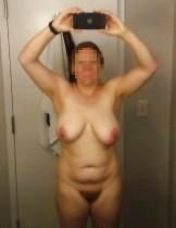 Hairy chubby BBW big saggy tits