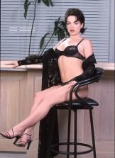 Claudia Atkins – Black Bra & Panties