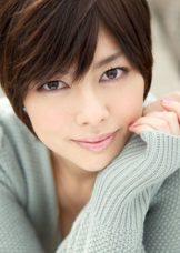 Japanese Model Wearing White Lingerie