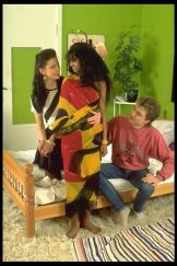 Indian girl with European couple