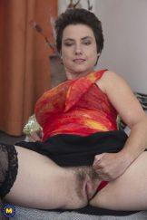 Ailana Mature Hairy Woman