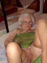 Older Granny showing tits and cunt