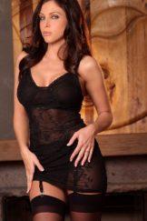 Jessica di Feo in black lingerie