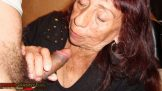 Old Latino Granny sucking Cock ,,,,again,,,,