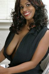 Lusty Yolanda in pinstripes