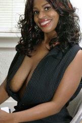 Lusty Yolanda in pinstripes