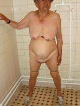 Latina/Latino Granny under the shower