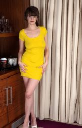 Kate Anne looking stunning in and out of yellow dress
