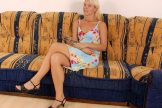 Stefanie – hot hairy blonde with small saggy tits