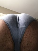my hairy ass in panties