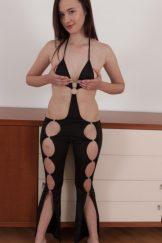 Julia Moore strips naked across her floor