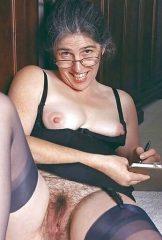Hairy granny secretary