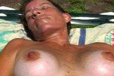 Melbourne FL Milf Cynthia Browns Tits Sunbathing