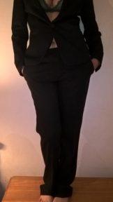 JoyTwoSex In Black Suit And Green Lingerie