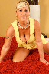 Berna/Renata – Blonde Granny in Yellow Dress