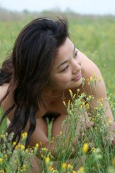 Young – Tong – slim hairy Asian poses outdoors