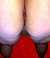 Black Angel have close-up of my hairy pussy and my ass