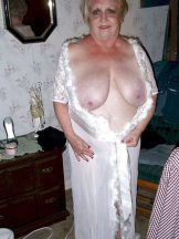 Blond BBW Granny shows Cunt and Big Tits