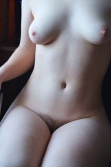 GF with hairy pussy on the chair