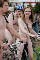 Not So Smart Pierced Uk Girl Cycling Nude