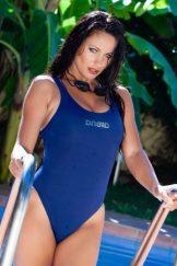 Kyla Cole – Blue Swim Suit