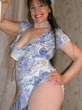 Beautiful Brunette MILF Posing and Showing Off – ONE