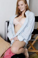 Curvy Redhead with Big Tits