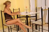 Petra – hairy babe takes her cup of tea in an unusual way