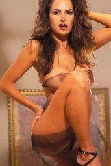 Malissa Petropoulos – Black Sheer Bodywrap