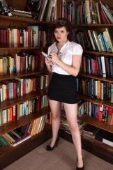 Fawna Latrisch – hairy beauty gets nude in library