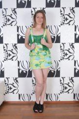 Bula / Mischelle – Green Panties :: MILF hairy upskirt