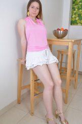 Bula / Mischelle – Pink Blouse White Skirt :: MILF hairy