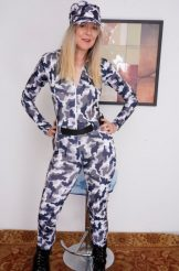 Jamie Foster in her Fatigues