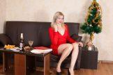 Greta Grace – Blonde in Red Dress :: MILF hairy