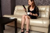 Shaya – Elegant Black Lingerie :: MILF hairy