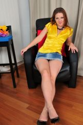 Bula / Mischelle – Jeans Dress | Blouse:: MILF hairy upskirt