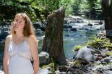 Hairy Redhead by river – lots of lip spreading