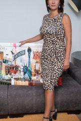 Gadget (Sara) – Leopard Dress :: MILF hairy
